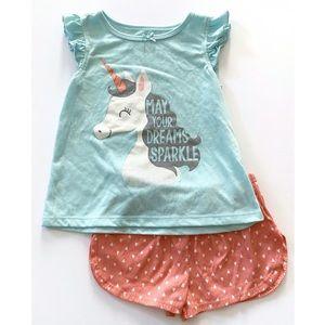 🦄Just One You Unicorn Pajama Set Size 5T